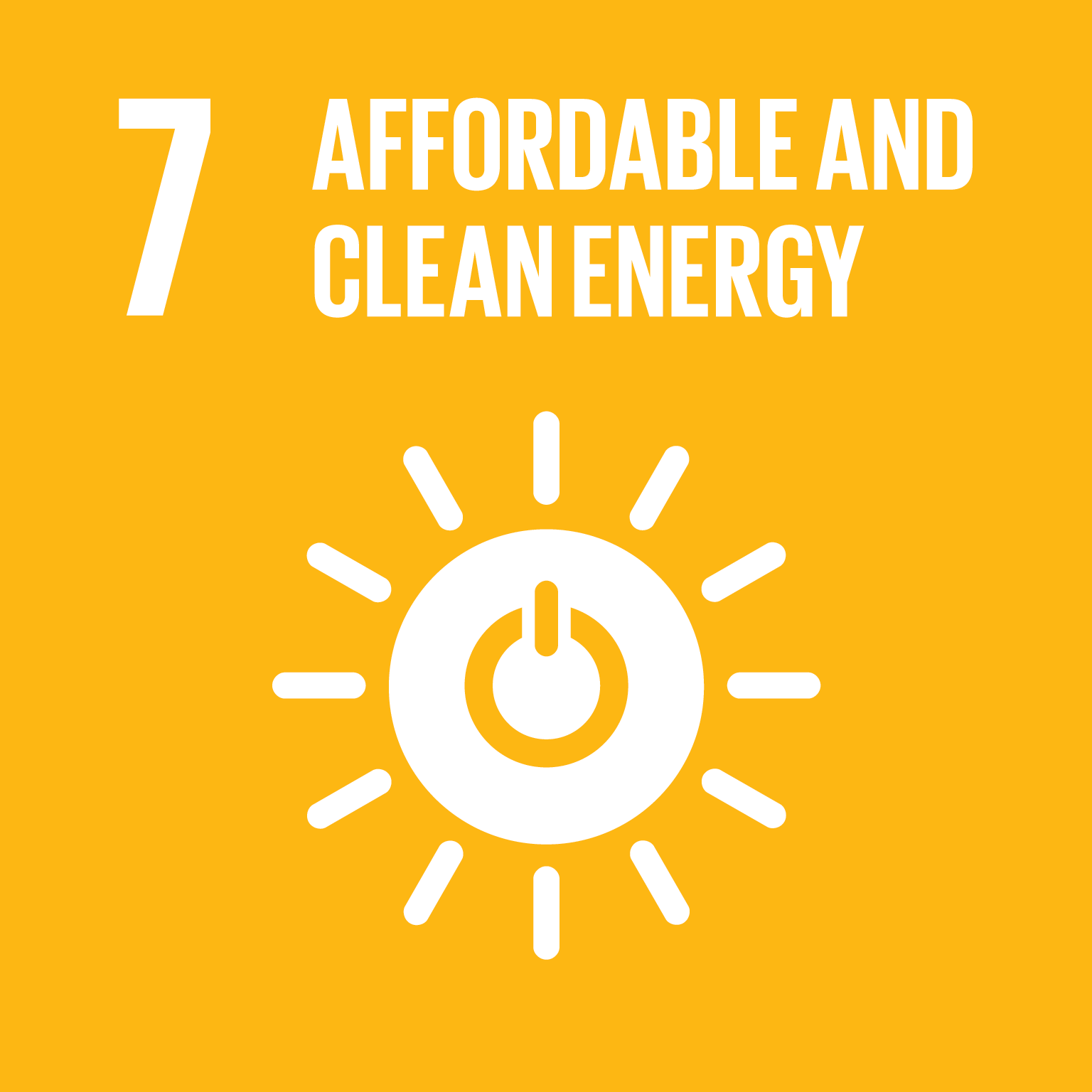 Affordable and Clean Energy - Ensure access to affordable, reliable, sustainable and modern energy for all